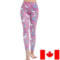 pink donut unicorns soft leggings s m