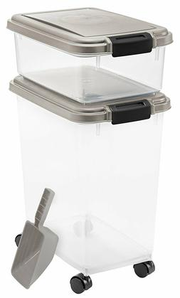 premium airtight pet food storage container rolling
