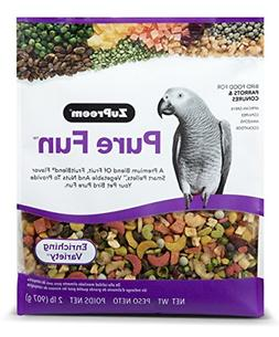 Pure Fun Bird Food for Parrots & Conures by ZuPreem,NET WT 2