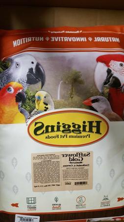 Higgins Safflower Gold Cockatiel and Conure bird food 25 Lbs