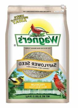 Safflower Seed Wild Bird Food 5 Lb. Cardinals Chickadees Tit