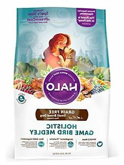 Halo Grain Free Natural Dry Dog Food, Small Breed Game Bird