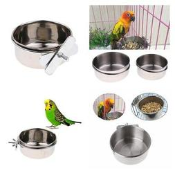 Pet Supplies Stainless Steel Coop Cup food or Water Bowl For