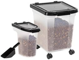 Storage Set Pet Food Container Airtight Combo Pack Scoop Bla
