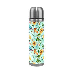 Sunflowers Birds Stainless Steel Water Bottle Double Wall Va