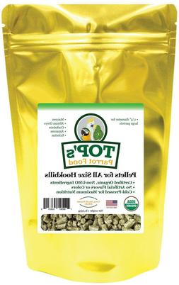 TOP's Parrot Food Pellets Healthy USDA Certified 100% Orga