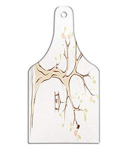 Ambesonne Tree of Life Cutting Board, Mature Apple Tree with
