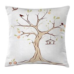Ambesonne Tree of Life Throw Pillow Cushion Cover, Mature Ap