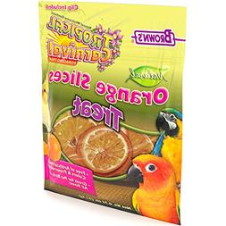 Tropical Carnival F.M. Brown's Natural Orange Slices Pet Bir