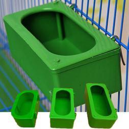 US Green Garden Pet Bird Food Water Bowl Pigeon Cage Cup Fee
