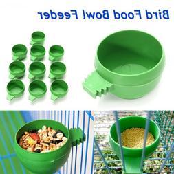 water Storing food Bird Supplies Parrot  Feeding Bowl Plasti