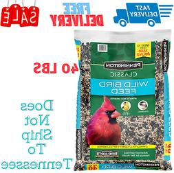 Wild Bird Food Seed Mix Birder's Blend Bulk 40lb Bag Feed Pe