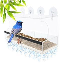 Entirely Zen Superior Window Bird Feeder Has 2 Way Mirror Fi